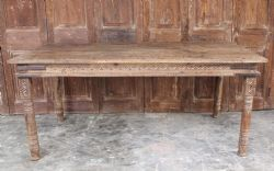 Thakat Dining Table in Acacia Wood, Rajasthan <b>SOLD<b>